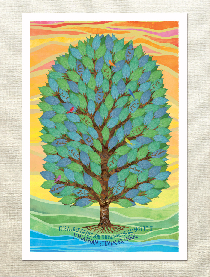 Tree of Life Sign In Board for a Bar or Bat Mitzvah